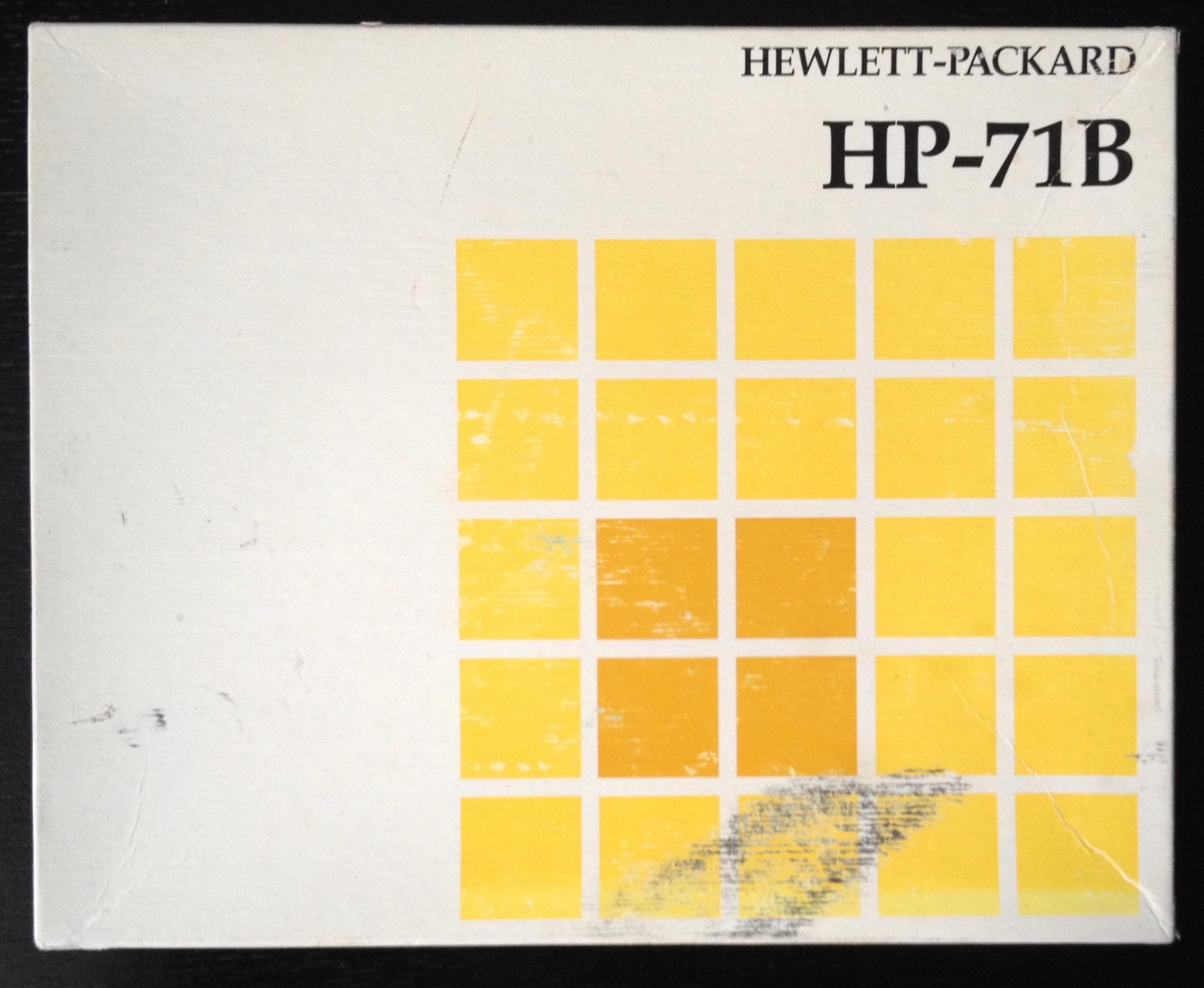 Hp 71b Manual